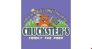Product image for Chuckster's Family Fun Park $1 off any attraction for everyone on your group.