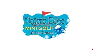 Product image for Waters Edge Mini Golf & Ice Cream Free round of golf two golfers for the price of one - free golfer is the cheaper of the twoLimit 1 coupon per person.