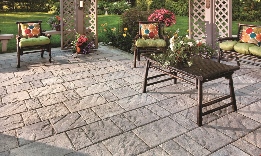 Product image for The Mulch Barn 10% off Outdoor Living - Fire Pit, Patio Pavers with low voltage lighting.