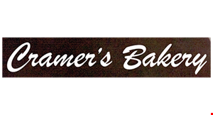 Product image for Cramer's Bakery $2.00 off* any bakery purchase over $10.00