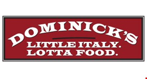 Product image for Dominick's Little Italy $20 For $40 Worth Of Italian Dining
