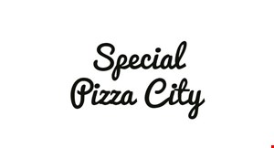 Product image for Special Pizza City $10.99 +Tax  Spaghetti & meatballs with soup or salad & bread