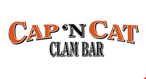 CAP 'N CAT CLAM BAR logo