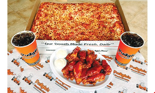 Product image for Pudgies Pizza, Pasta & Subs FREE topping on sheet pizza (excludes extra cheese & specialty toppings)