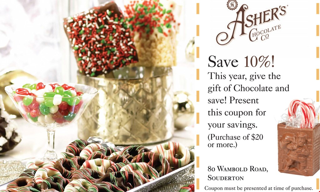 Product image for Ashers Chocolate Save 10% when you give us code fall curbside when you call to place your order.