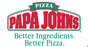 Product image for Papa John's $12.99 - 1 large pizza up to 3 toppings.