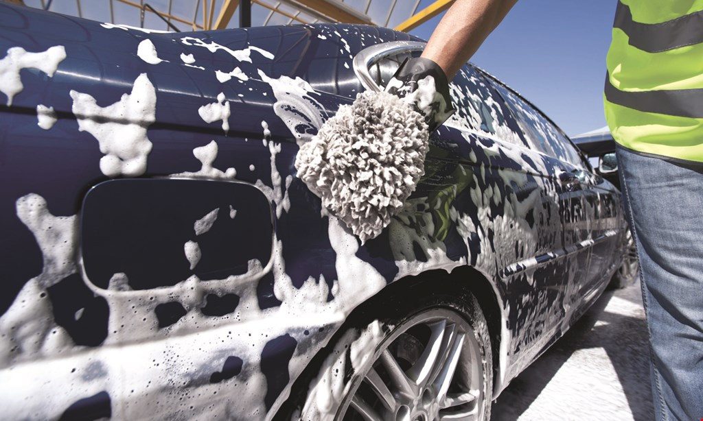 Product image for American Car Care Center $1 OFF Full-Service Car Wash Soft Cloth Exterior Wash, Towel Dry & Detail, Interior Vacuum, Dust Dash & Console, Most Vehicles.