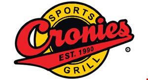 CRONIES SPORTS GRILL logo