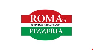 Roma's Breakfast, Pizza & Subs logo