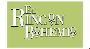 Product image for El Rincon Bohemio $10 Off any order of $50 or more. Not valid on Sunday before 2pm, nor on holidays.