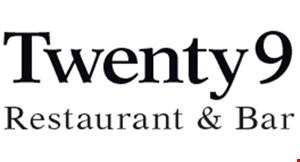 Twenty9 Restaurant & Bar logo