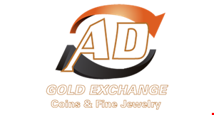 Product image for AD Gold Exchange $100 free additional cash when you sell over $500 of gold, silver or platinum jewelry