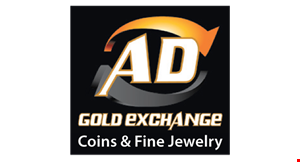 Product image for AD Gold Exchange $100 free additional cash. When you sell over $500 of gold, silver or platinum jewelry