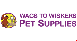 Product image for Wags To Wiskers Pet Supplies $20 off any purchase