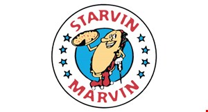 Product image for Starvin Marvin $45.99 2 XLG 1-topping pizzas, 24 wings & 2-liter Coke®.