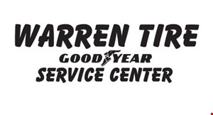 Product image for WARREN TIRE $20 off purchase & installation of 4 new tires