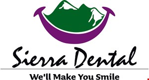 Product image for Sierra Dental $49 exam, x-rays & cleaning 0150, 1110, 0210 or 0330