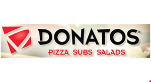 "Product image for DONATOS PIZZA $1.00 off any medium 12"" pizza OR $2.00 off any large 14"" pizza. Promo code: 100/201."