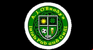 A.J. O'Brady's Irish Pub & Grill logo