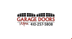 Product image for Garage Doors & More $100 Off any new residential door purchase.
