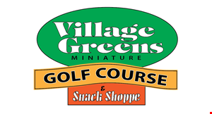 Village Greens Miniature Golf Course & Snack Shoppe logo