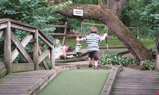Product image for Village Greens Miniature Golf Course & Snack Shoppe $1 Off a round of golf.