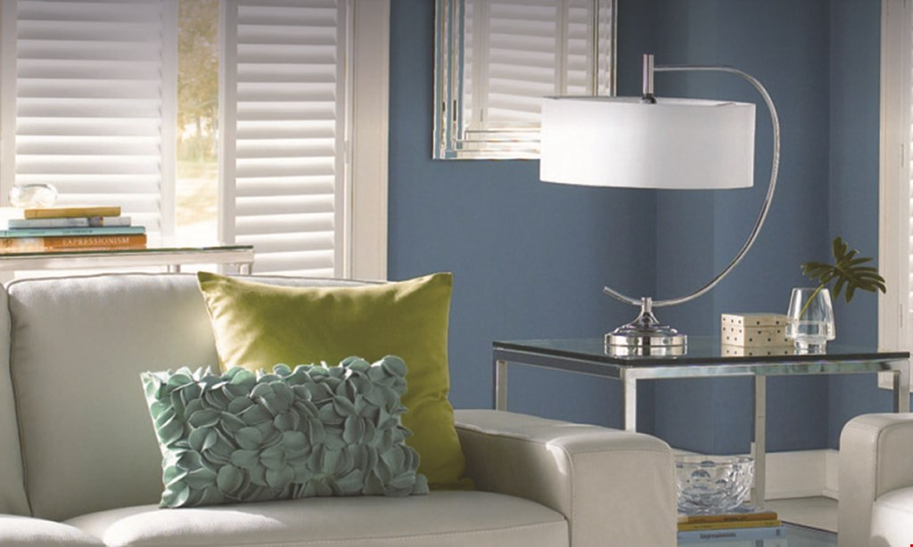 Product image for Budget Blinds $40 Off* Plantation Shutters or Draperies each window