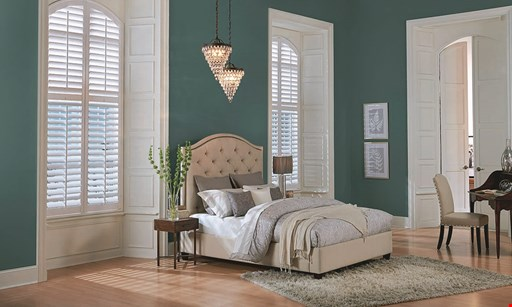 Product image for BUDGET  BLINDS $40 OFF* Plantation Shutters or Draperies each window.