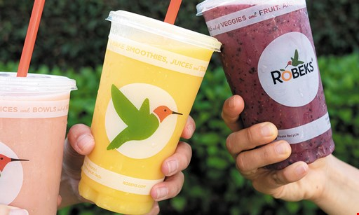 "Product image for Robeks Fresh Juice & Smoothies $2 OFF YOUR PURCHASE TO REDEEM FOR ONLINE ORDERS, USE THE COUPON CODE ""$2OFFNOW"""