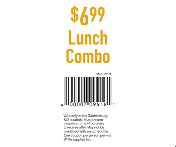 $6.99 Lunch Combo