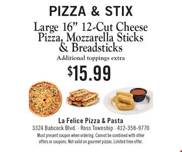 Pizza & Stix: Large 16