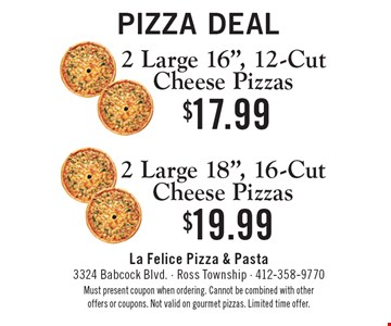 Pizza Deal: 2 Large 16
