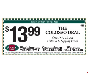 $13.99 The Colosso Deal, one 18