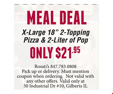 Meal Deal! Only $21.95 x-large 18