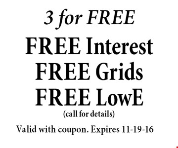 3 for FREEfree Interest free Gridsfree LowE .