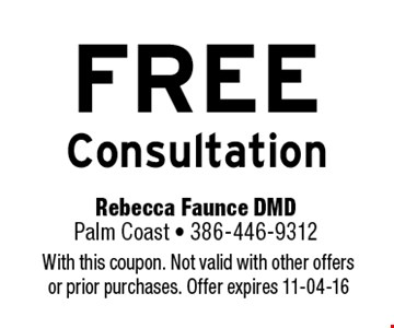 FREE Consultation. With this coupon. Not valid with other offers or prior purchases. Offer expires 11-04-16