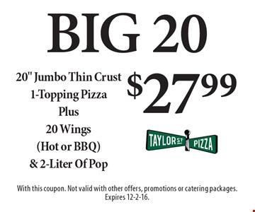 Big 20 $27.99 20