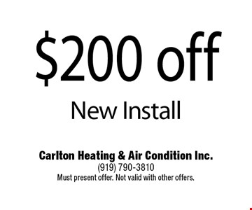 $200 off New Install.