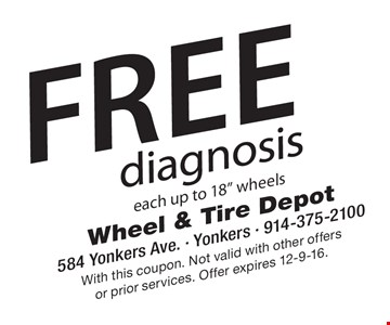 Free diagnosis each up to 18