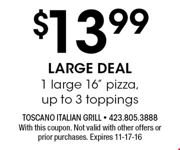 $13.99 LARGE DEAL1 large 16