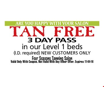 3 DAY PASS. Valid Only With Coupon. Not Valid With Any Other Offer. Expires 11-04-16.