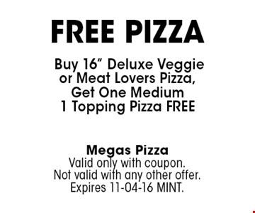 FREE PIZZA Buy 16