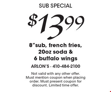 Sub Special! $13.99 for 8