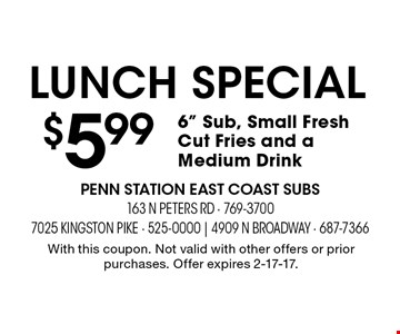 lunch special $5.996