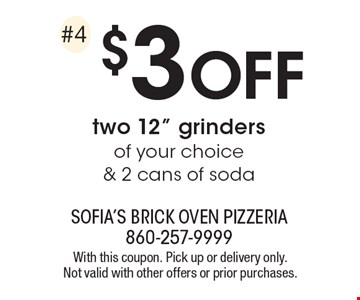 $3 off two 12