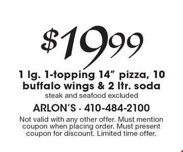 $19.99 1 lg. 1-topping 14