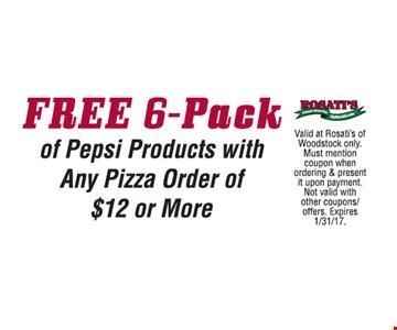 Free 6-Pack Pepsi
