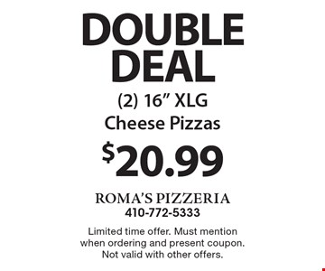 Double Deal $20.99 (2) 16