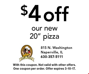 $4 off our new 20