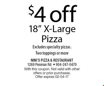 $4 off 18
